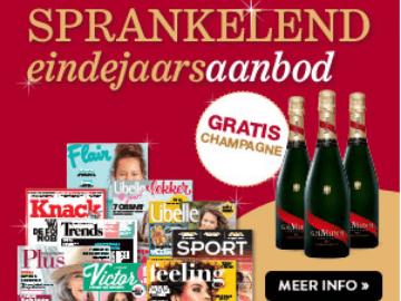 Abonnementen.be actie: gratis fles champagne bij abonnement