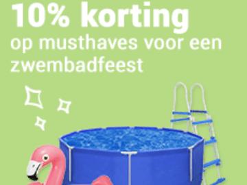 Actie bij VidaXL: 10% kortingscode voor zwembad musthaves