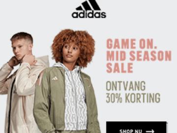 Exclusieve kortingscode bij adidas: 30% korting op een selectie producten + 20% extra op de outlet