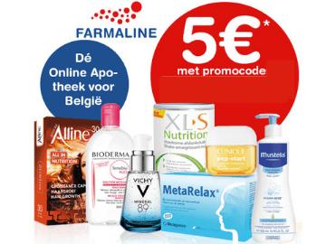 Exclusieve kortingscode Farmaline: €5 korting op je bestelling