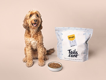 Exclusieve Tails.com kortingscode: 2 weken gratis droog hondenvoer