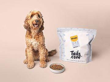 Exclusieve Tails.com kortingscode: ontvang 2 weken gratis droog hondenvoer