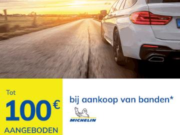 Korting Auto5: krijg tot €100 reductie op Michelin banden