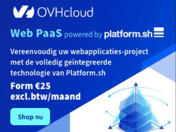 OVH Web Paas actie: webaplicatieproject vanaf €25/maand
