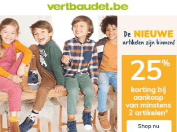 Vertbaudet korting: bespaar 25% op kinderkleding